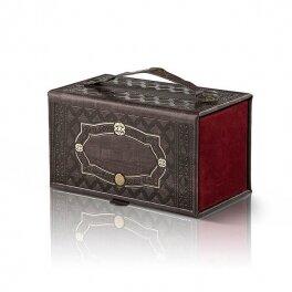 קופסא לאתרוג משוחזר עתיק p.u